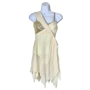 Dance contemporary lyrical ivory / gold outfit